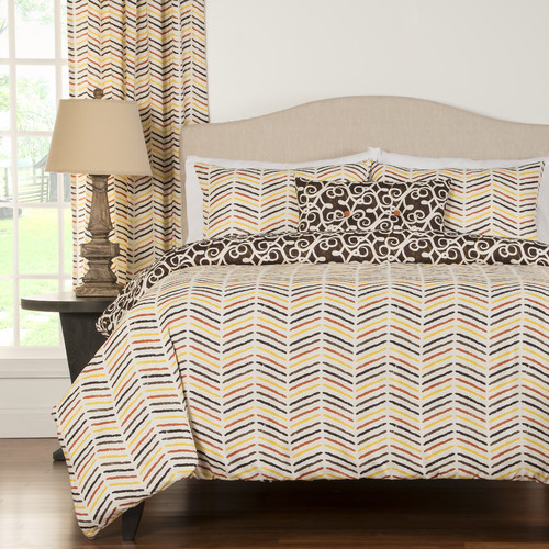 Siscovers Sabine 4 Piece Reversible Duvet Cover Set