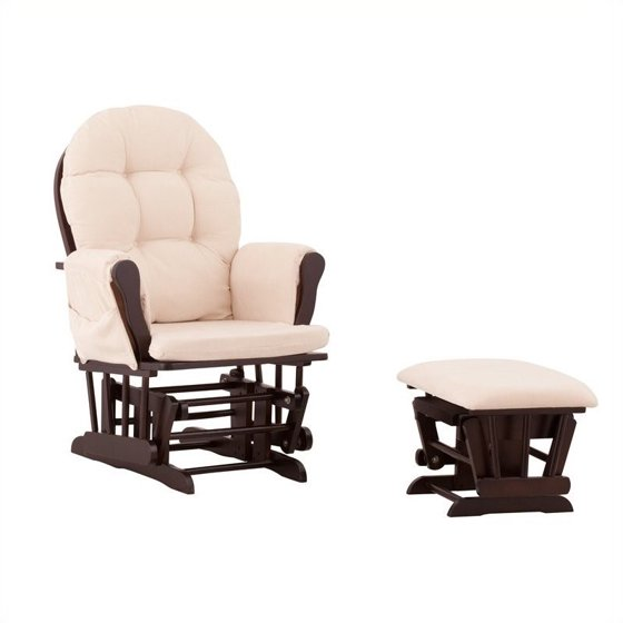Outstanding Status Furniture Roma Glider With Nursing Stool Ottoman In Espresso Ncnpc Chair Design For Home Ncnpcorg