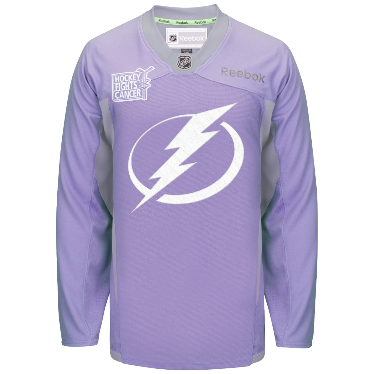 Tampa Bay Lightning Reebok NHL Hockey Fights Cancer Practice Men's Jersey