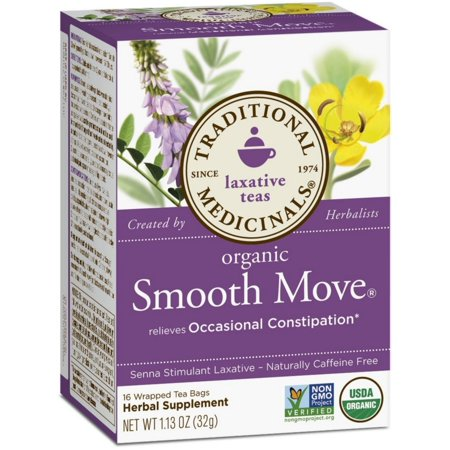 Traditional Medicinals Organic Herbal Laxative Tea Bags, Smooth Move 16 ea (Pack of 2)
