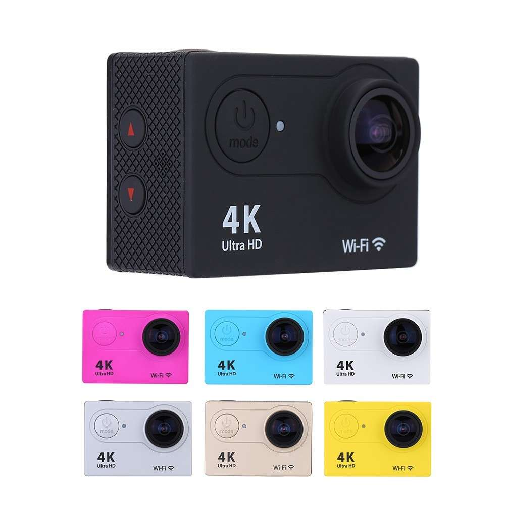 Blue Sports Action Camera 4K HD Waterproof with Touch Screen LCD POV Adventure Camcorder with Accessories