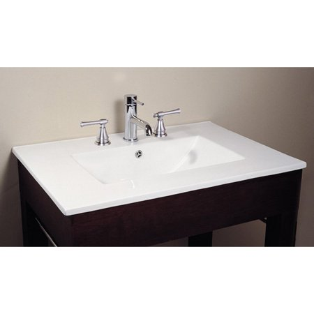 Vitreous China Vanity Top with Integrated Sink. Avanity 31W x 22D in  Vitreous China Vanity Top with Integrated