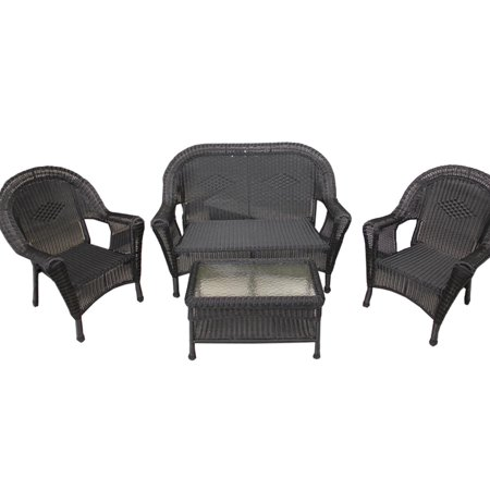 Lb Wicker Patio Chairs Loveseat Table Product Image