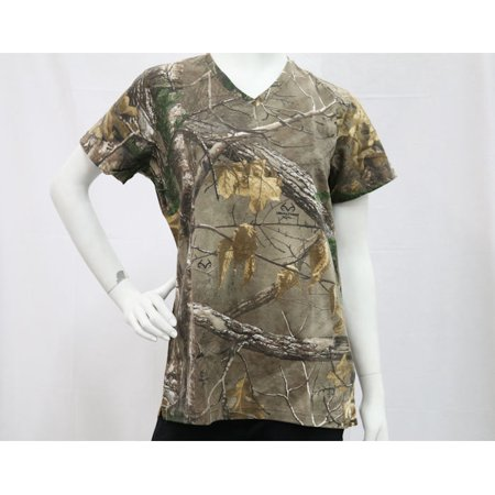 Gander Mountain Women's Touch Cotton Hush Short Sleeve Tee In Realtree Xtra -
