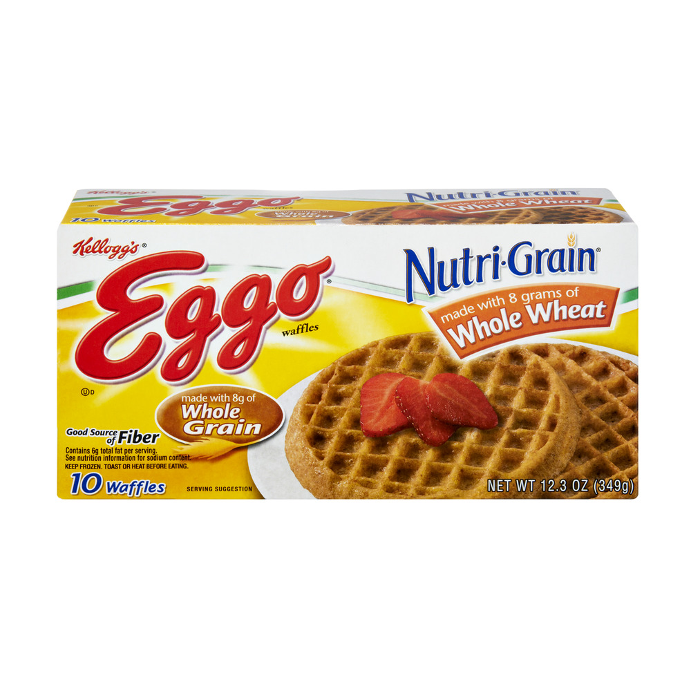 Kellogg's Eggo Nutri-Grain Whole Wheat Waffles- 10 CT