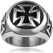 Men's Stainless Steel Cross Fashion Ring