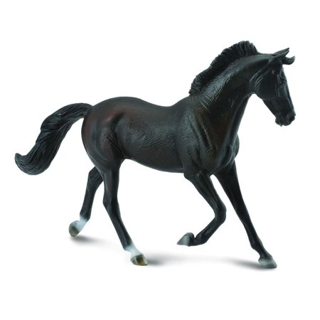 Breyer CollectA Series Black Thoroughbred Mare Model Horse - Breyer Halloween Series