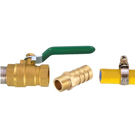 """Brass Barb Hose Fitting Connector Adapter 16mm Barbed x 1/2"""" G Male Pipe 2pcs - image 1 of 4"""