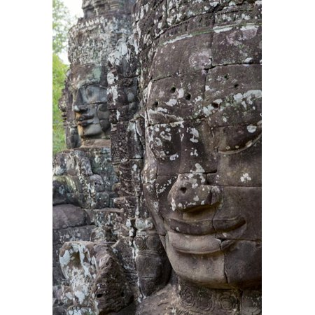 Buddha Faces at Bayon, Angkor Temples, Siem Reap, Cambodia, Southeast Asia Print Wall Art By Alex (Asian Round Face)