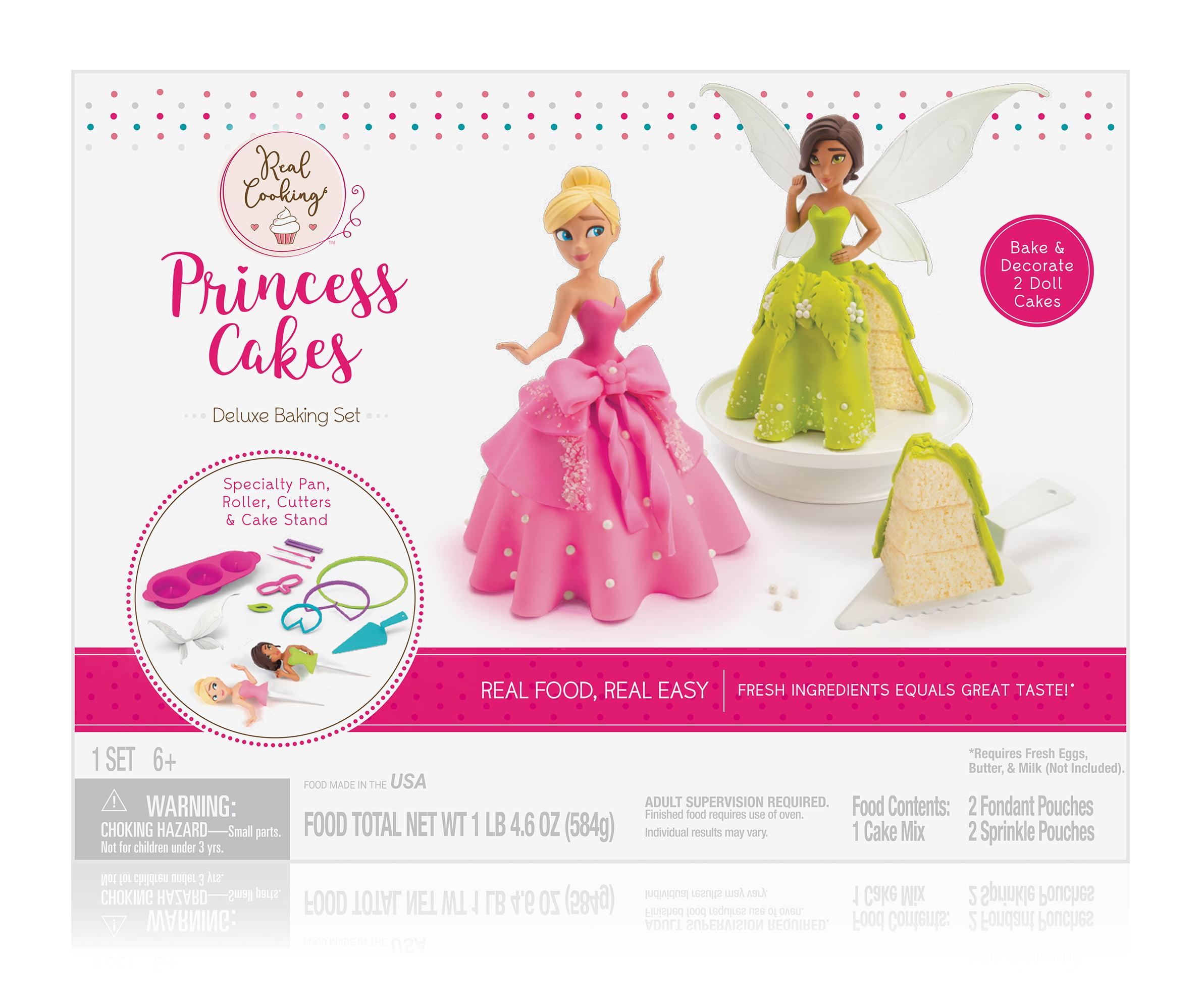 Real Cooking Princess Cakes Deluxe Baking Set Walmartcom