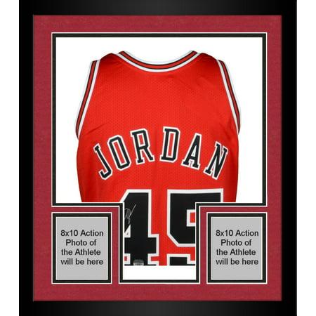 designer fashion b4c3f 18918 Framed Michael Jordan Chicago Bulls Autographed Red Mitchell & Ness #45  Jersey - Upper Deck - Fanatics Authentic Certified - Walmart.com