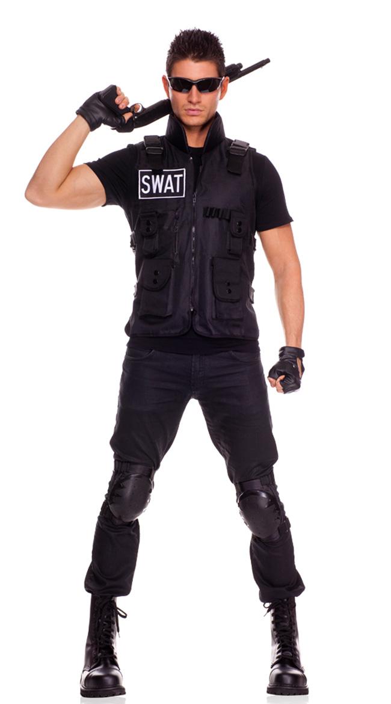 sc 1 st  Walmart & Swat Commander Mens Costume Swat Team Costume - Walmart.com
