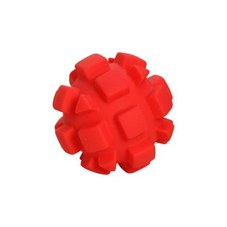 Hueter Toledo Soft Flex Bumby Ball Dog Toy Red 4 x 4 x 4