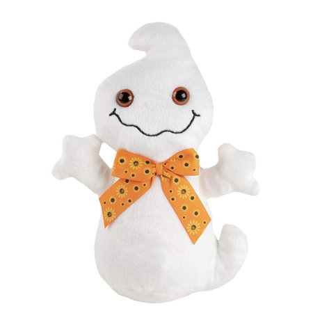 Cute Ghost Plush Toy - Boo Boo The Ghost Kids Soft Stuffed Toy, Fun Halloween Trick or Treat Gifts for Girls and Boys, Party Decoration White, 7 x 9.5 x 3.2 Inches