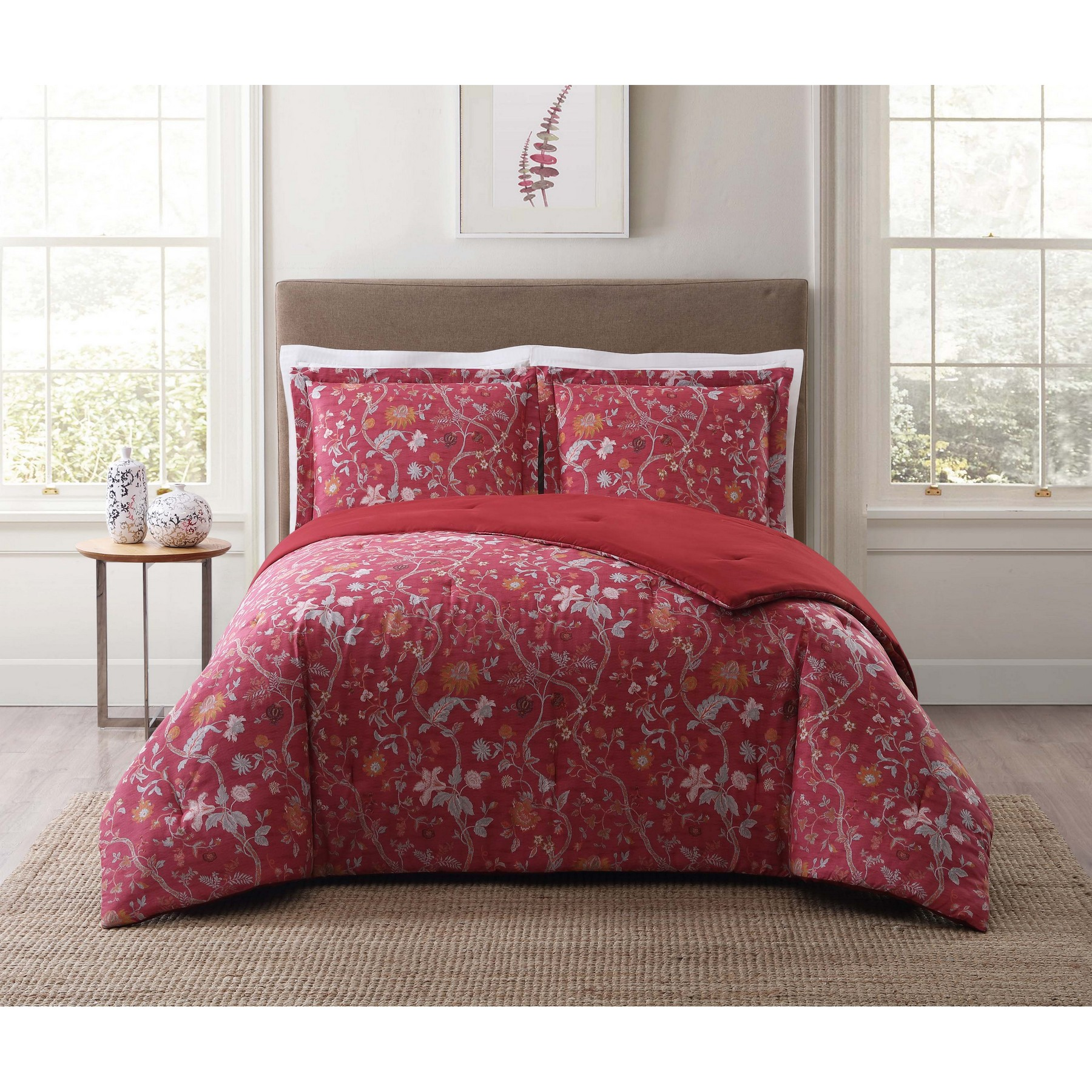 Style 212 Bedford Red Twin XL Comforter Set