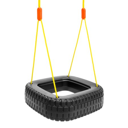 Best Choice Products 2-Children Outdoor Tire Swing Set for Tree, Patio and Backyard- 110lb