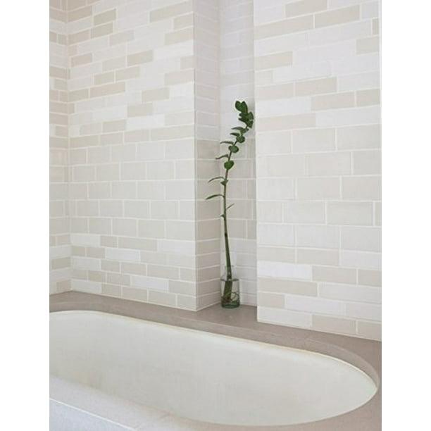 Beige 2x8 Thick Clay Body Subway Tile Backsplash Kitchen Tile