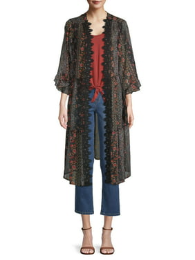 Time and Tru Women's Tiered Kimono