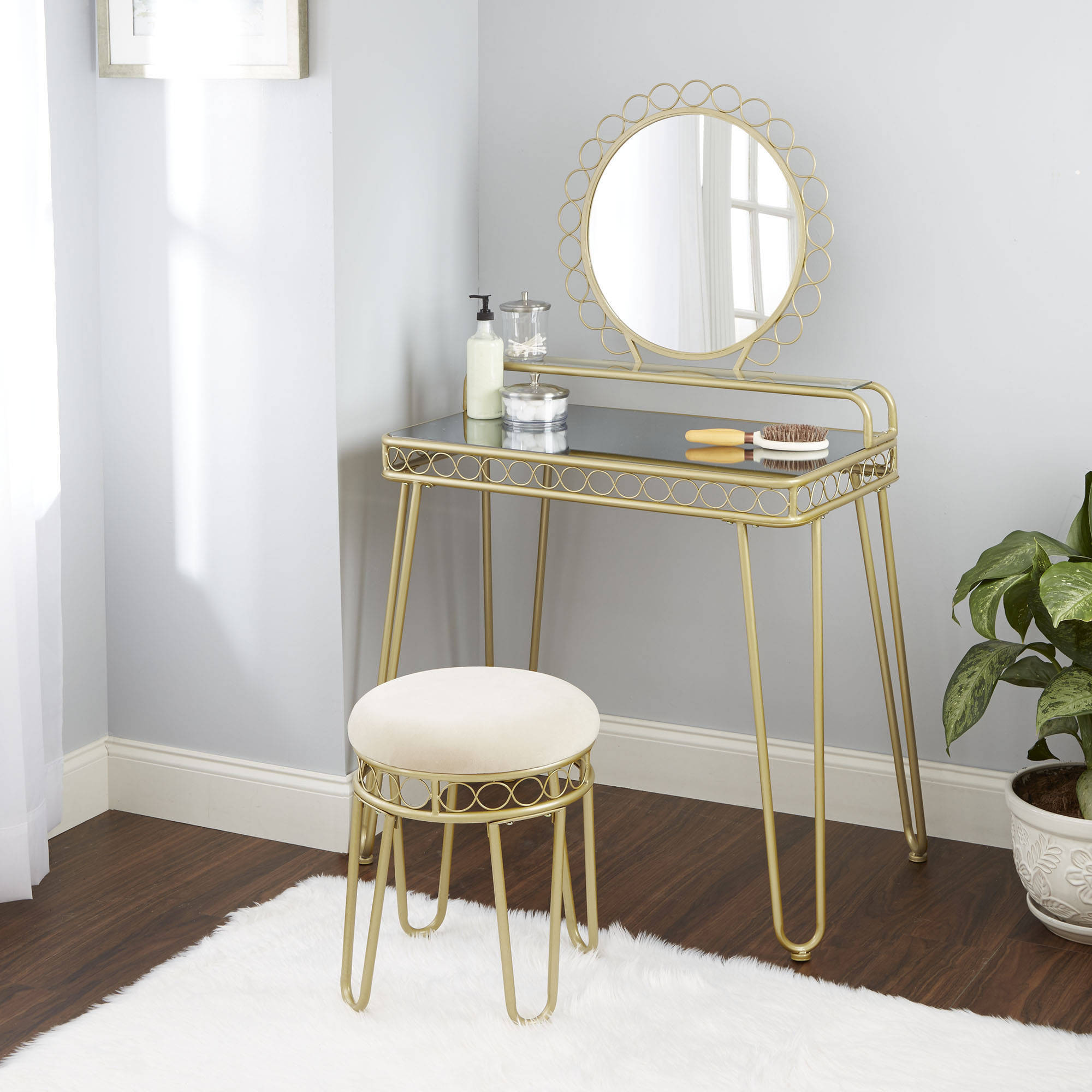 Better Homes and Gardens Mirabella Bedroom Vanity & Stool by CHEYENNE INDUSTRIES LLC