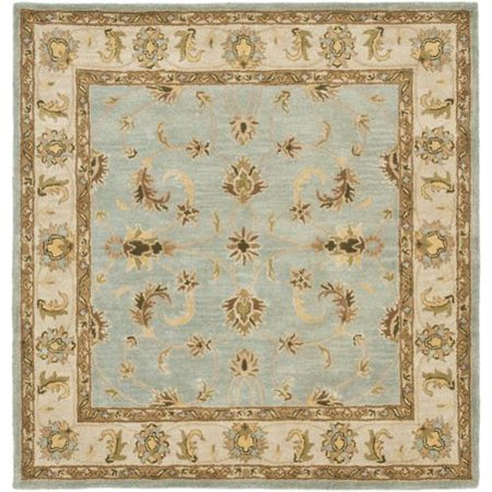 Safavieh  Handmade Heritage Timeless Traditional Light Blue  Beige Wool Rug  8 Square