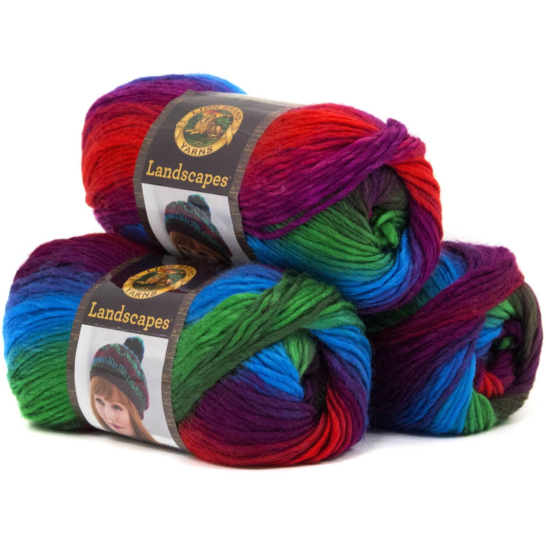Lion Brand Yarn Landscapes 3-Pack 100 Percent Acrylic Fashion Yarn