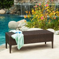 Deals on Wicker Outdoor Bench by Christopher Knight Home 218013