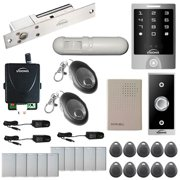 Visionis FPC-5481 One Door Access Control 1700lbs Electric Drop Bolt Time delay Fail Safe, Vis-3000 Outdoor Keypad/Reader No Software EM card Compatible 2000 Users Wireless Receiver with PIR Kit