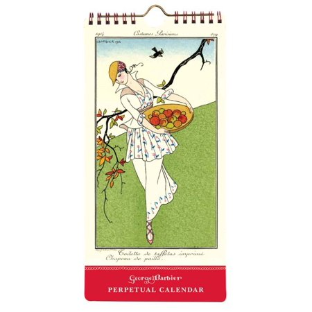 The Art & Fashion of George Barbier Perpetual Slimline Calendar