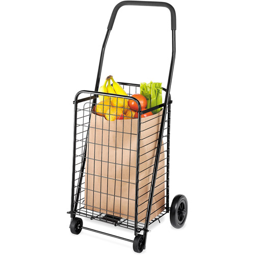 Whitmor Rolling Steel Utility Cart, Black