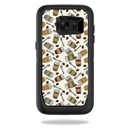 MightySkins Protective Vinyl Skin Decal for OtterBox DefenderSamsung Galaxy S7 Edge Case wrap cover sticker skins Coffee