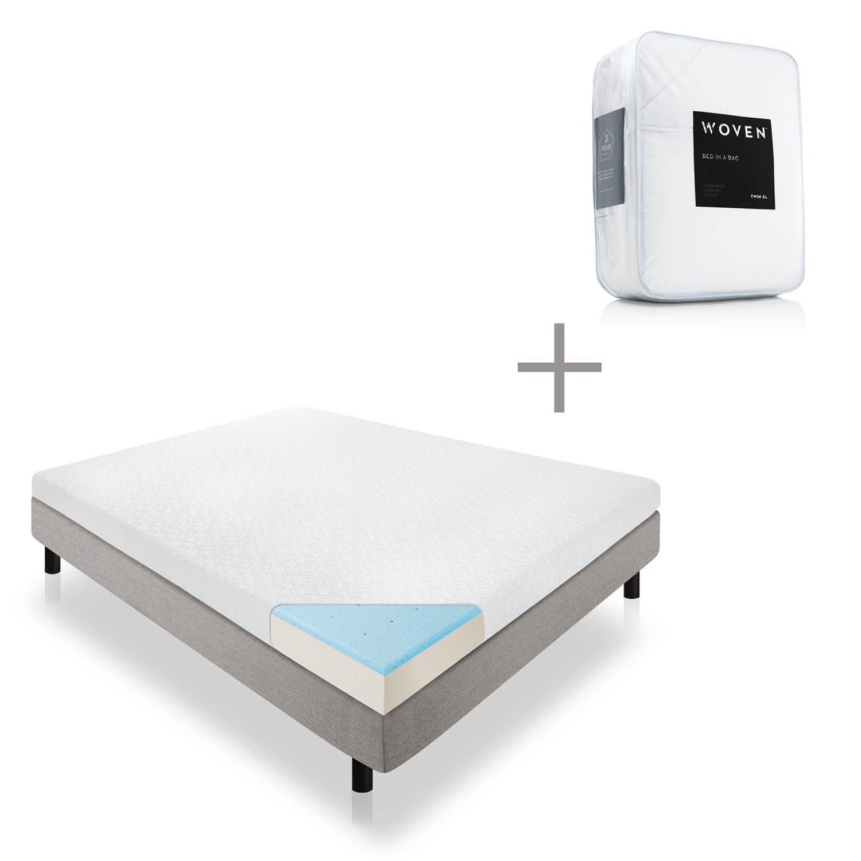 """Lucid 5"""" Gel Memory Foam Mattress with Bonus Bed in a Bag..."""