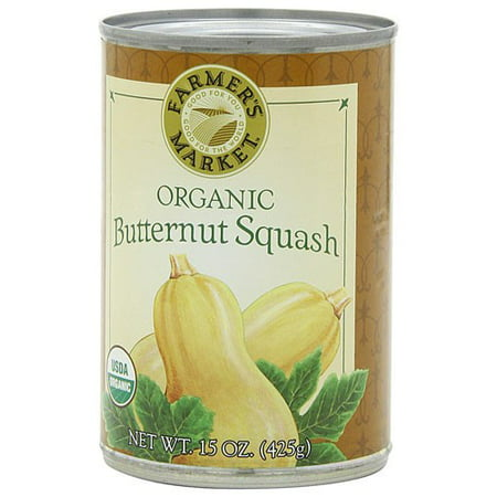 Farmers Market Foods Organic Butternut Squash  15 Ounce Cans