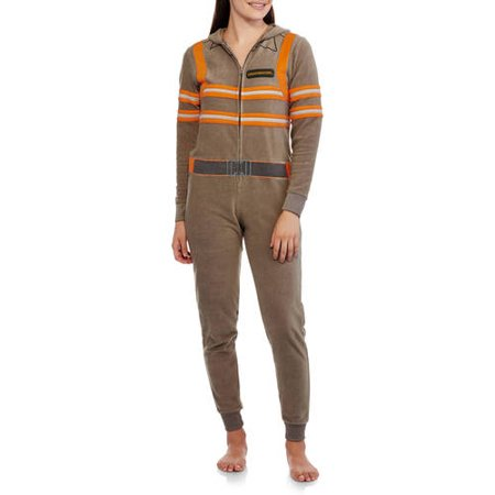28fe032fc4 Ghosterbusters Women s Licensed Sleepwear Adult Onesie Costume Union Suit  Pajama - Walmart.com