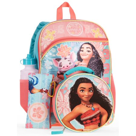 5e509e58144b Disney Moana 5-Piece Backpack Set With Lunch Bag