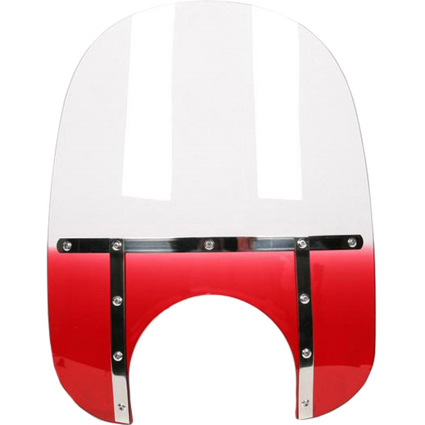 """Memphis Shades Memphis Fats For Road King 19"""" Gradient Ruby/Red"""