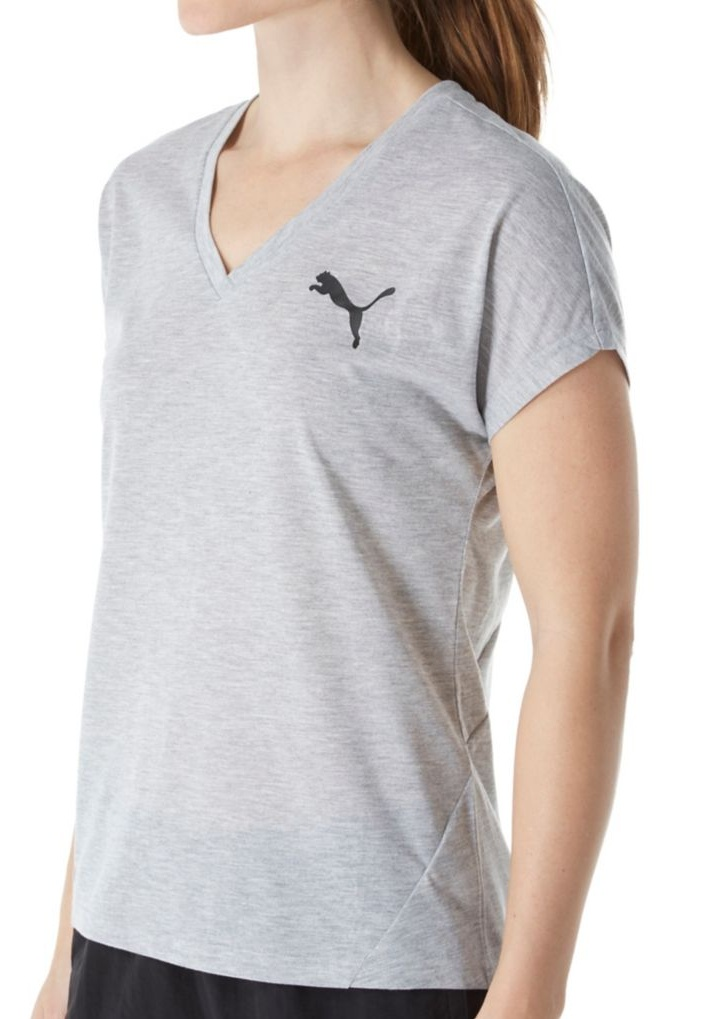 60d8c60d044 PUMA - Women s Puma 838464 Elevated DryCELL V-Neck Sporty Tee - Walmart.com