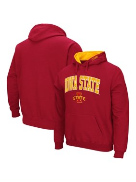 Iowa State Cyclones Colosseum Arch & Logo Pullover Hoodie - Cardinal