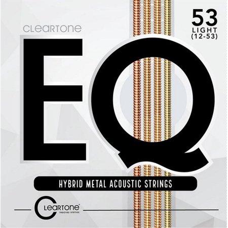 Cleartone EQ 7812 Hybrid Metal Acoustic Guitar Strings, Light, 12-53 Metal Guitar Strings