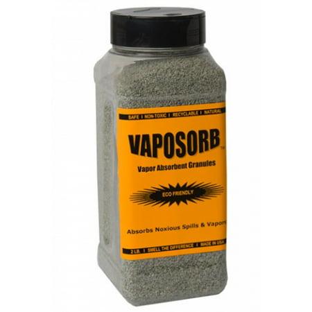 Absorbent Granules - VAPORSORB Natural Fume Remover: 2 lb. Granules Rid Chemical, Solvent & Gasoline Vapors