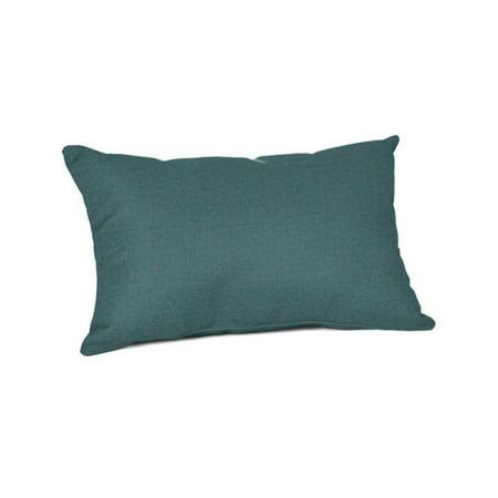 "Sunbrella 20"" x 13"" Lumbar Pillow - Cast Lagoon"