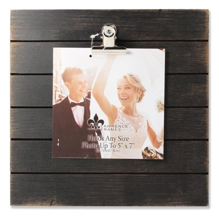 9x9 Weathered Black Woodlands Clip Picture Frame Holds Up To 5x7