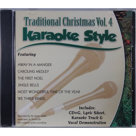 Traditional Christmas Volume 4 Daywind Christian Karaoke Style NEW CD+G 6 Songs - Halloween Songs Set To Christmas Music