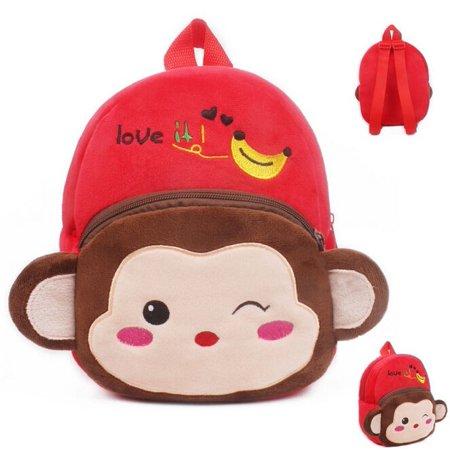 Kid Boy Girl Children Baby Animal Cartoon Bags Backpack Zoo School Lunch Bag Rucksack - image 3 of 5