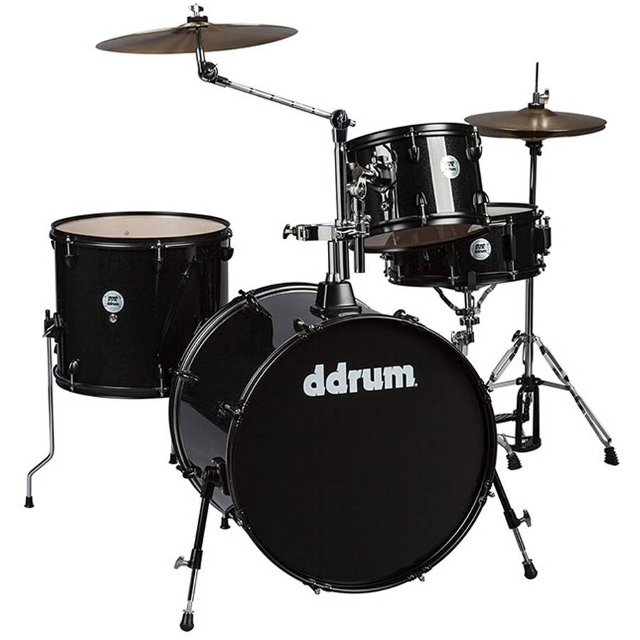 ddrum D2 Rock Kit Black Sparkle with Black Hardware by ddrum
