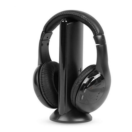 Outtop 5IN1 Wireless Headphone Casque Audio Sans Fil Ecouteur Hi-Fi Radio FM TV MP3 (Best Wireless Internet Radio)