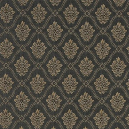 Designer Fabrics A493 54 in. Wide Gold And Midnight Two Toned Brocade Medallion Upholstery Fabric