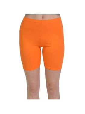 Stretch is Comfort Girl's, Women's and Plus Size Cotton Athletic Biker Shorts
