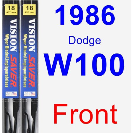 1986 Dodge W100 Wiper Blade Set/Kit (Front) (2 Blades) - Vision Saver