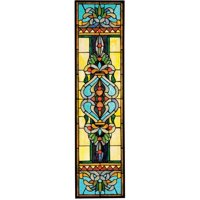 Design Toscano Blackstone Hall Tiffany-Style Stained Glass Window