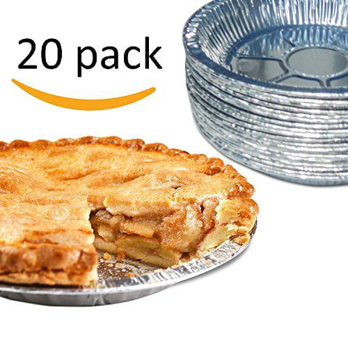 Gypsy's Cart 20 Piece Premium Aluminum Foil Pie Pans, Disposable Tin Plates for Pies Tart... by